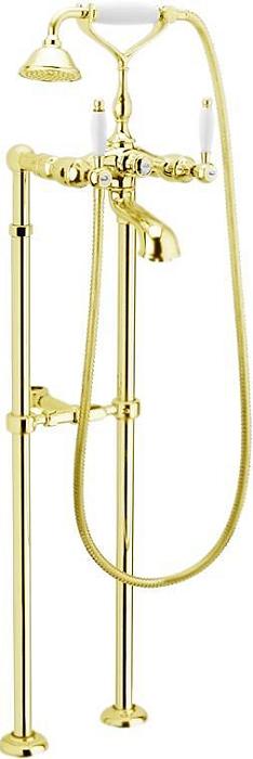 Смеситель для ванны Webert Dorian DO720801 Золото/белый