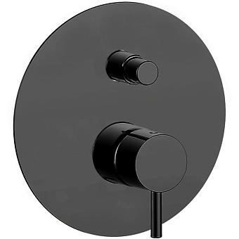 CISAL Less New Однорычажный смеситель для ванны/душа, цвет черный матовый