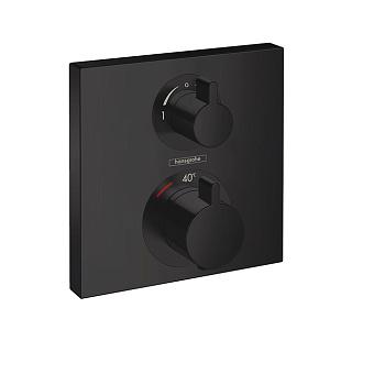 Hansgrohe Ecostat Square Термостат для душа, 2 источника, цвет: черный матовый