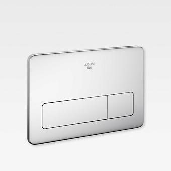 Armani Roca Baia Панель смыва с двумя клавишами 25.78х0.4х16.78см, цвет: хром