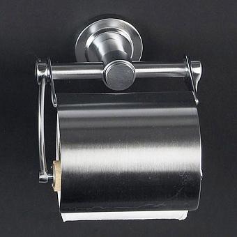 Cristal et Bronze Alliance Держатель туалетной бумаги с крышкой, матовый хром
