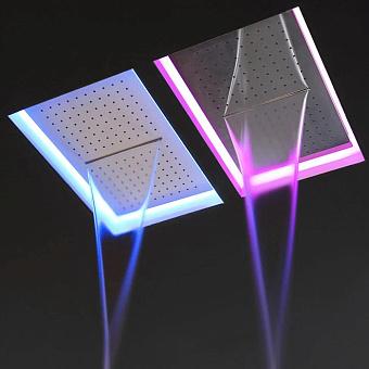 Antonio Lupi Meteo Встраиваемый верхний душ, 52x35x11см, с LED подсветкой, цвет: зеркальная сталь
