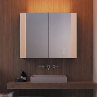 Burgbad RL40 Зеркальный шкаф 140х15х80см., 2 зеркальные двери с обоих сторон, подсветка, 4 стеклянные полки, Smart-Home-System, 2 розетки