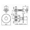 Zucchetti Agora Встроенный термостатический смеситель с запорным клапаном, цвет: хром