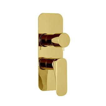 Carlo Frattini Spillo Up Смеситель для душа встроенный, с переключателем на 2/3 источника, цвет: золото