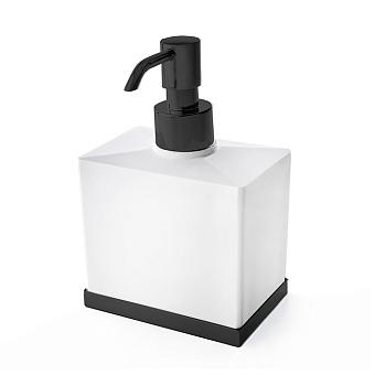 3SC Mood Deluxe Дозатор настольный, композит Solid Surface, цвет: белый матовый/черный матовый