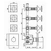 Zucchetti Bellagio Встроенный термостатический смеситель с 3 запорными клапанами, цвет: хром