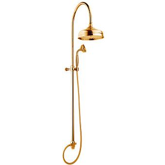 Nicolazzi Doccia Душевая стойка с верхним душем Ø 20см, переключателем и ручным душем, цвет: золото