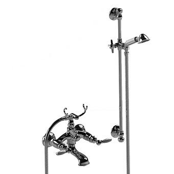 Stella Italica Leve Смеситель для ванны 3274/302/6 со штангой и ручным душем, цвет: хром