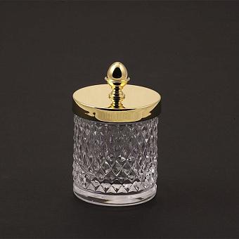 Cristal et Bronze Prestige Баночка из рифленого стекла с крышкой, цвет: золото