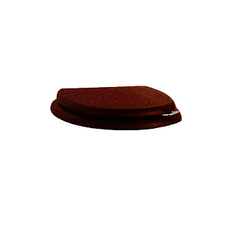 Devon&Devon Blues Сиденье для унитаза из мдф, (микролифт) цвет: красное дерево/петли хром