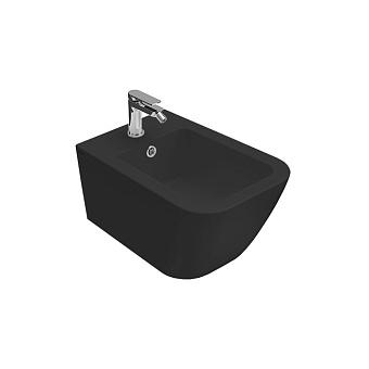 Globo Stone Биде подвесное 52х36 см, 1 отв. под смеситель, системой скрытого крепежа, цвет: черный матовый