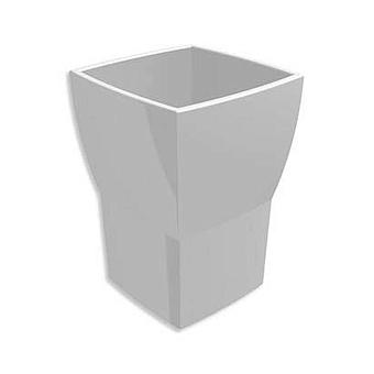 Bertocci Grace Стакан керамический, настольный, цвет: белый