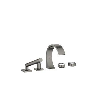 Dornbracht CYO Смеситель для ванны, на 5 отв., с ручным душем, цвет: черная платина матовая
