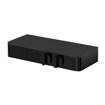 Carlo Frattini Switch Смеситель для душа встраиваемый, термостатичес, с запорн вент, 2 режима, вывод воды, цвет: черный матовый
