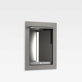 Armani Roca Island Встраиваемый шкафчик 20x16.7xh25см для хранения с подсветкой (транформатор 12V/DC не включен), цвет: silver