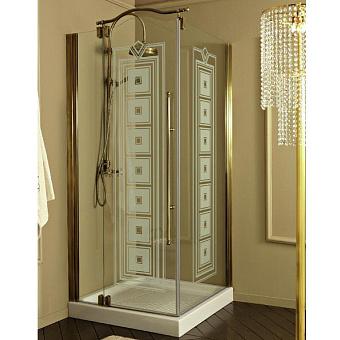 Душевое ограждение Eurodesign 90x90xh195 см, квадратное, с 1 дверью, профиль бронза