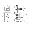 """Zucchetti Aguablu Термостатический смеситель, скрытого монтажа 1/2"""", с запорным вентилем, цвет: хром"""