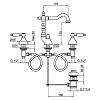 Смеситель для раковины Webert Dorian DO750202 Хром/белый