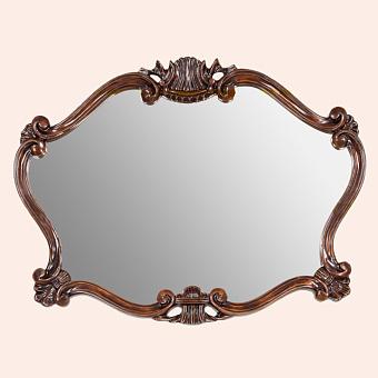 Tiffany World, 330, зеркало 92х70см, рама: дерево, отделка: мокка