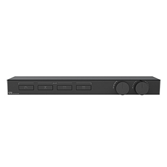 Gessi Hi-Fi Термостат для душа, с вкл. до 4 источников одновременно, с полкой из черного мат. стекла, цвет: Black Metal Brushed PVD