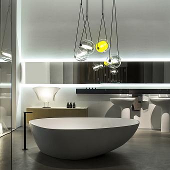 Agape Drop Ванна отдельностоящая 195x129x57.5 см, цвет: белый/светло-серый