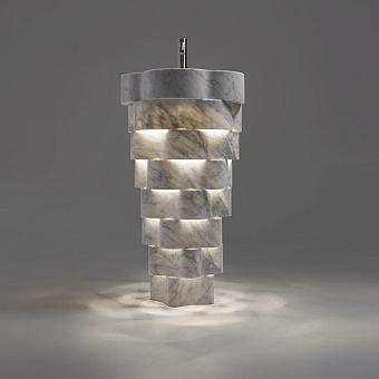 Antonio Lupi Intreccio Раковина напольная 47x85 см, с LED подсветкой, с донным клапаном и сифоном, мрамор: Marmo di Carrara