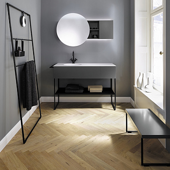 Burgbad Coco Комплект напольной мебели 120x50x87 см, цвет серый