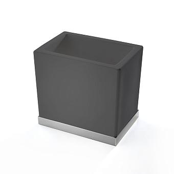 3SC Mood Deluxe Стакан настольный, композит Solid Surface, цвет: чёрный матовый/хром
