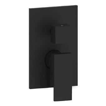 Paffoni Elle Смеситель для душа, встраиваемый, с переключателем потоков с переключателем на 2 потока, цвет: черный матовый