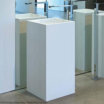 Rifra Plinth Раковина 40х40х85 см, без отв., напольная, цвет: белый