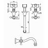 Zucchetti Agora Cмеситель для раковины на 3 отверстия с аэратором, цвет: хром