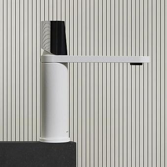 Antonio Lupi Indigo Смеситель для раковины, 1 отв., ручка хром блестящий, цвет: белый матовый