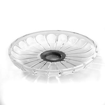 3SC Montblanc Лоток универсальный, крулый, настольный, цвет: прозрачный хрусталь/хром