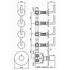 Zucchetti Simply beautiful Термостатический встроенный смеситель, с 4 запорными клапанами, цвет: хром