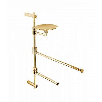 Стойка с аксессуарами подвесная Bongio T Mix, цвет: золото 24к.