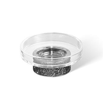 Decor Walther Rocks STS Мыльница настольная, прозрачное стекло, с кристаллами Swarovski, цвет: хром
