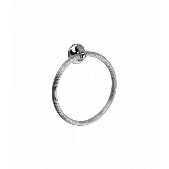 Полотенцедержатель-кольцо Bongio Fleur, подвесной монтаж, цвет: хром