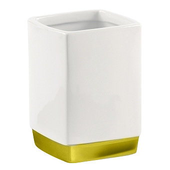 Stilhaus Gea Стакан, цвет: золото/белая керамика