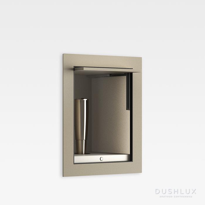Armani Roca Island Комплект: Гигиенический выдвижной душ встроенный в шкафчик, шланг 1.8 м, цвет: greige