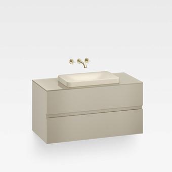 Armani Roca Baia Тумба подвесная с раковиной, 100х59х61см с 2 ящиками, со столешницей, цвет: greige
