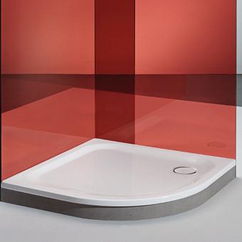 BETTE Душевой поддон полукруглый 120х120хh3,5см, R=500, D=90 мм, анти-слип, самоочищающееся покрытие, цвет: белый