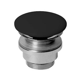 AZZURRA Донный клапан для раковины, с крышкой керамической, цвет: черный