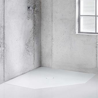 BETTE Floor Caro Душевой поддон 90х90 см, пятиугольный, D9см, с шумоизоляцией, цвет: белый