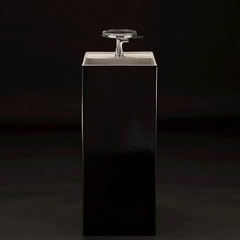 Laufen Kartell  Раковина 37.5х43.5х90 см, 1 отв., напольная, без перелива, цвет: черный глянцевый