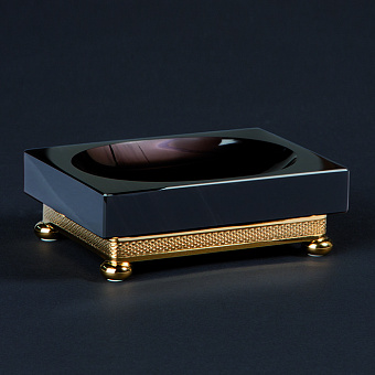 Cristal et Bronze Obsidian Мыльница настольная на ножках-шариках, цвет: золото