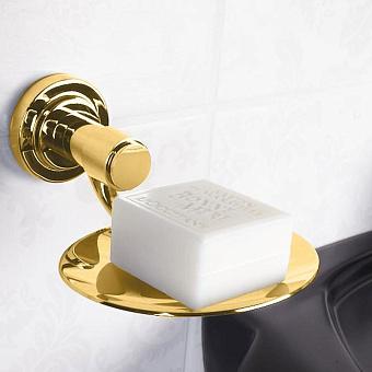 Cristal et Bronze Alliance Мыльница подвесная круглая, цвет: золото