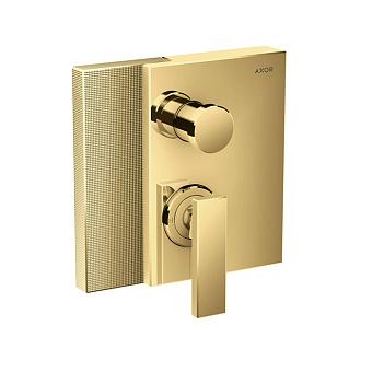 Axor Edge Смеситель для ванны, встраиваемый, алмазная огранка, цвет: золото