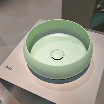 BETTECraft  Раковина-чаша 45х45х12 cм, без отв., на столешницу, круглая, без перелива, цвет: вечно зеленый 115