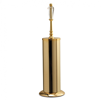 3SC Boheme Туалетный ёршик напольный, цвет: золото 24к. Lucido